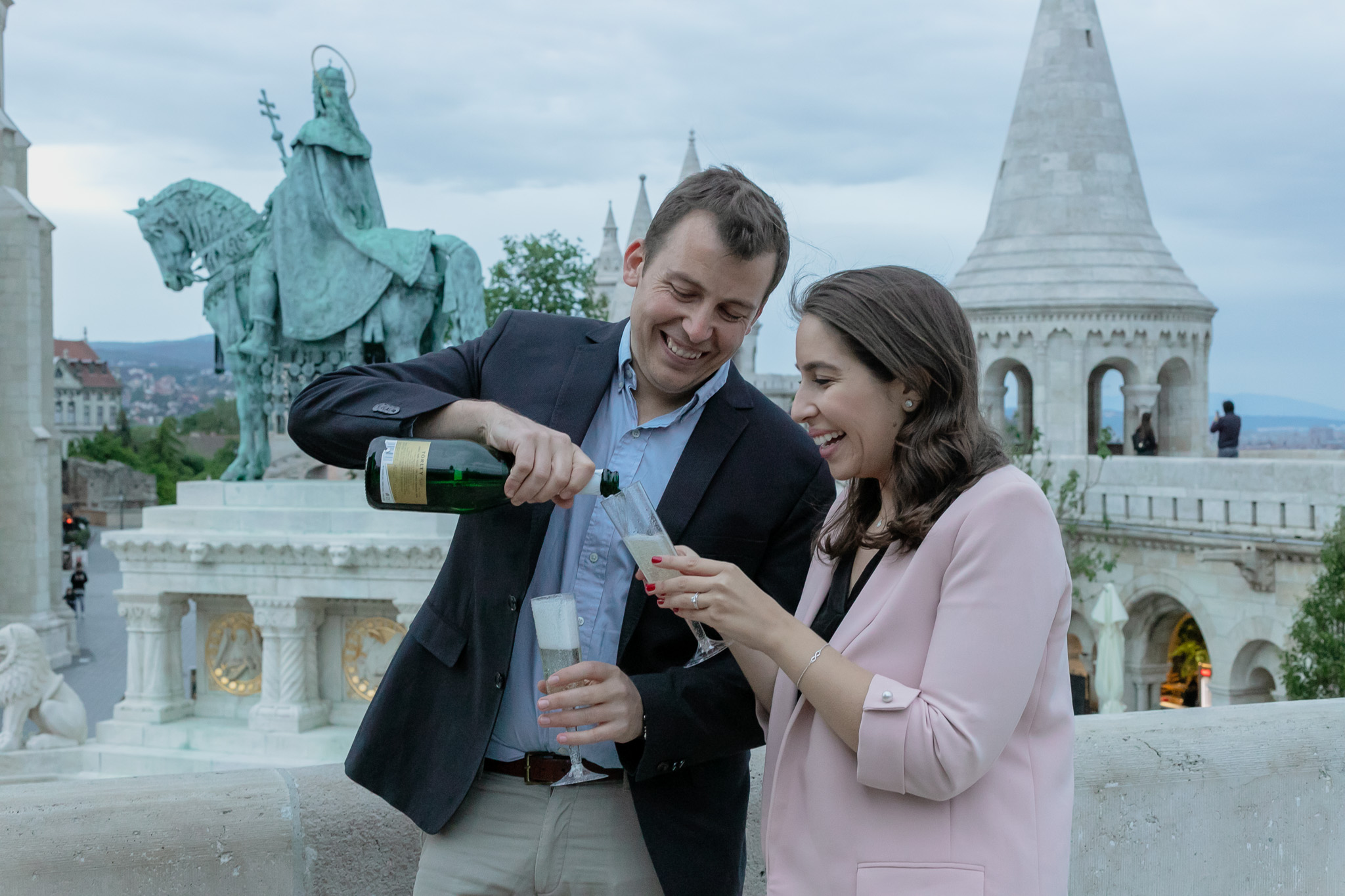 engagement at Fishermans Bastion