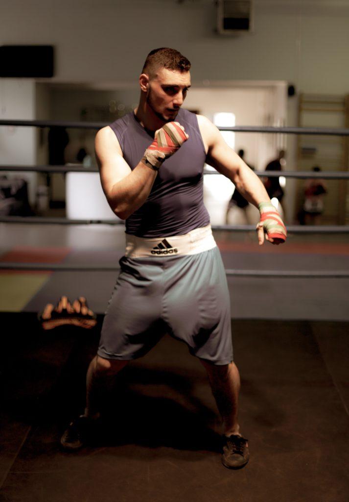 professional boxer portrait