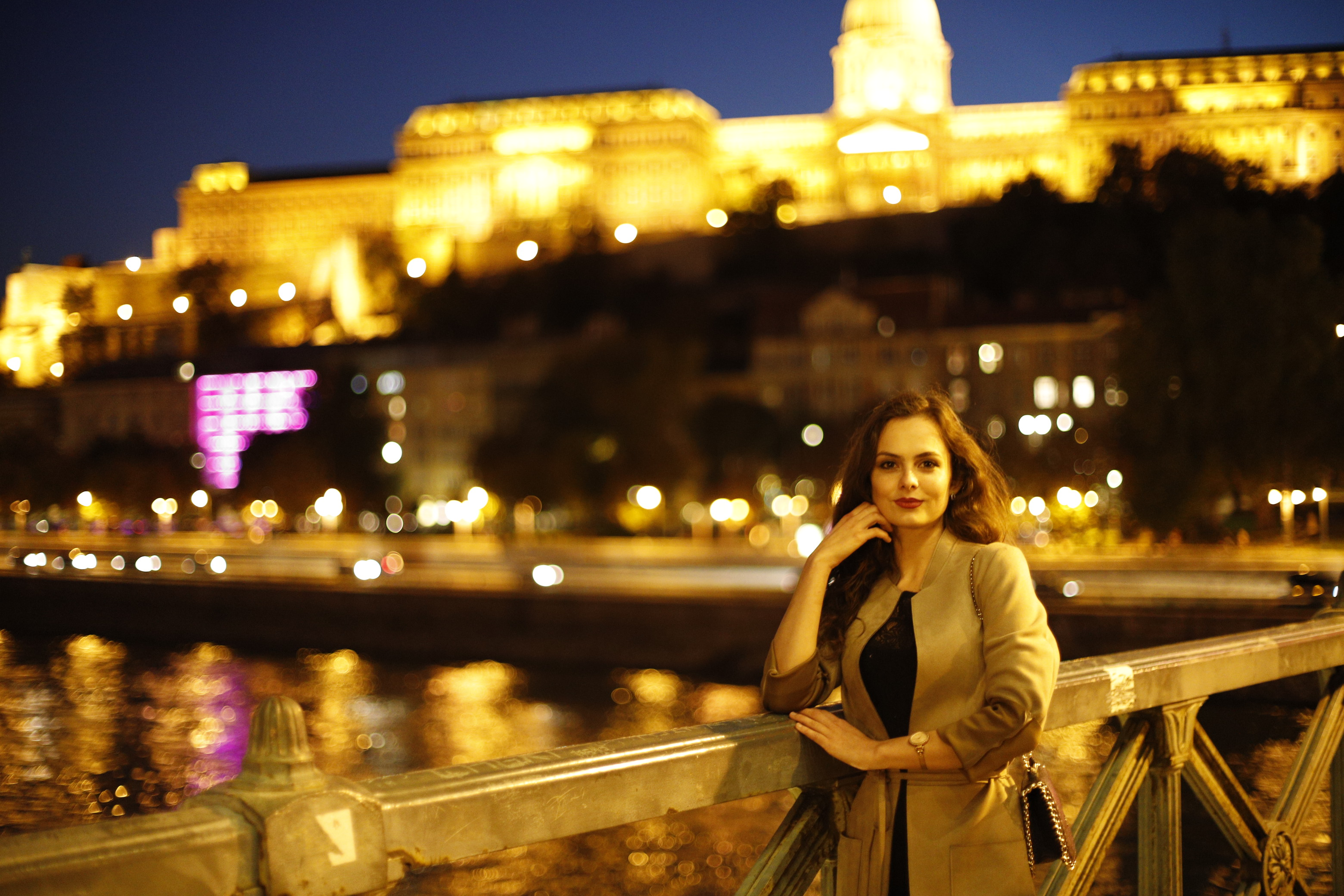 Portrait at Chain Bridge Budapest