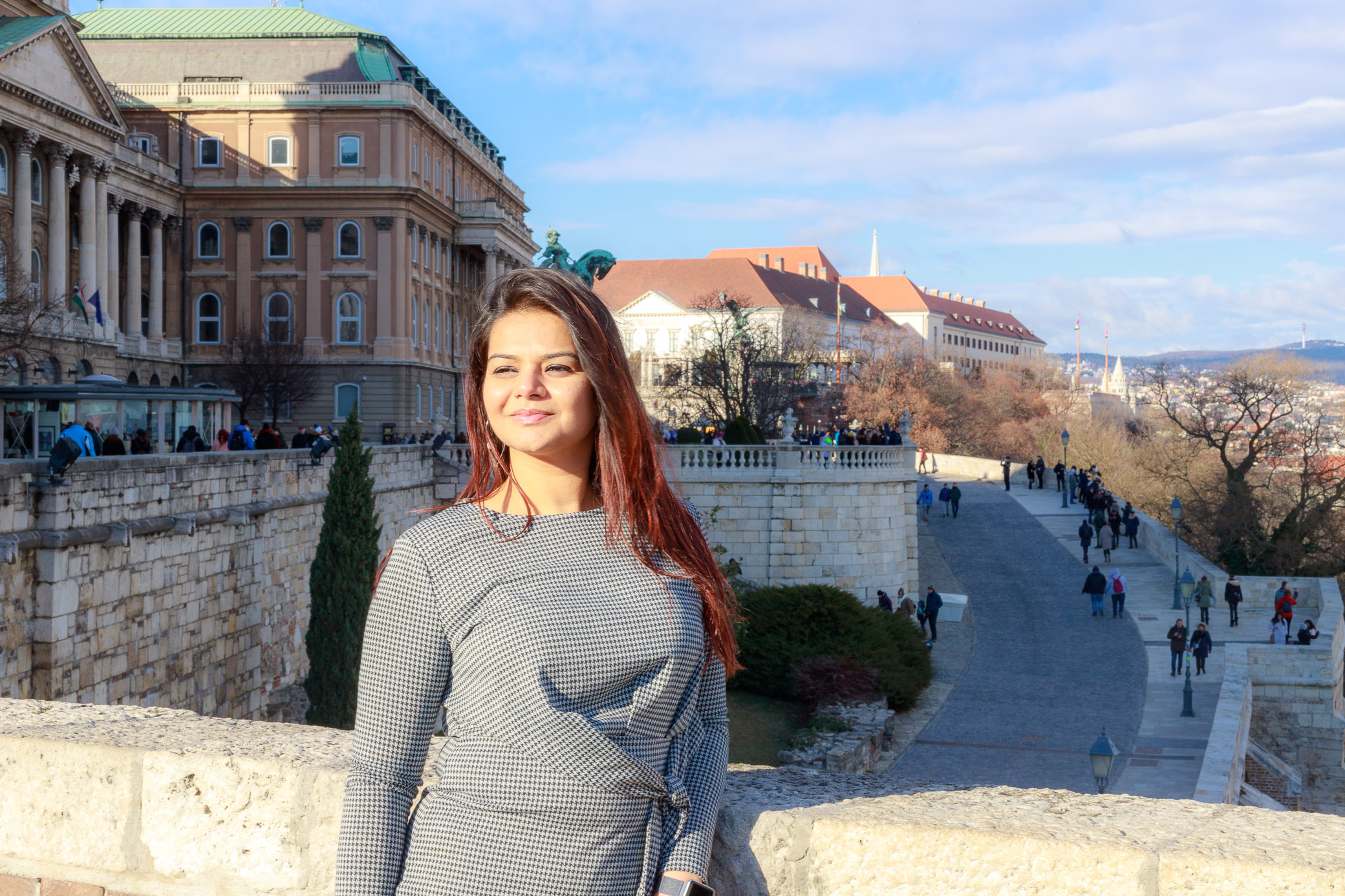 Megan at Buda Castle