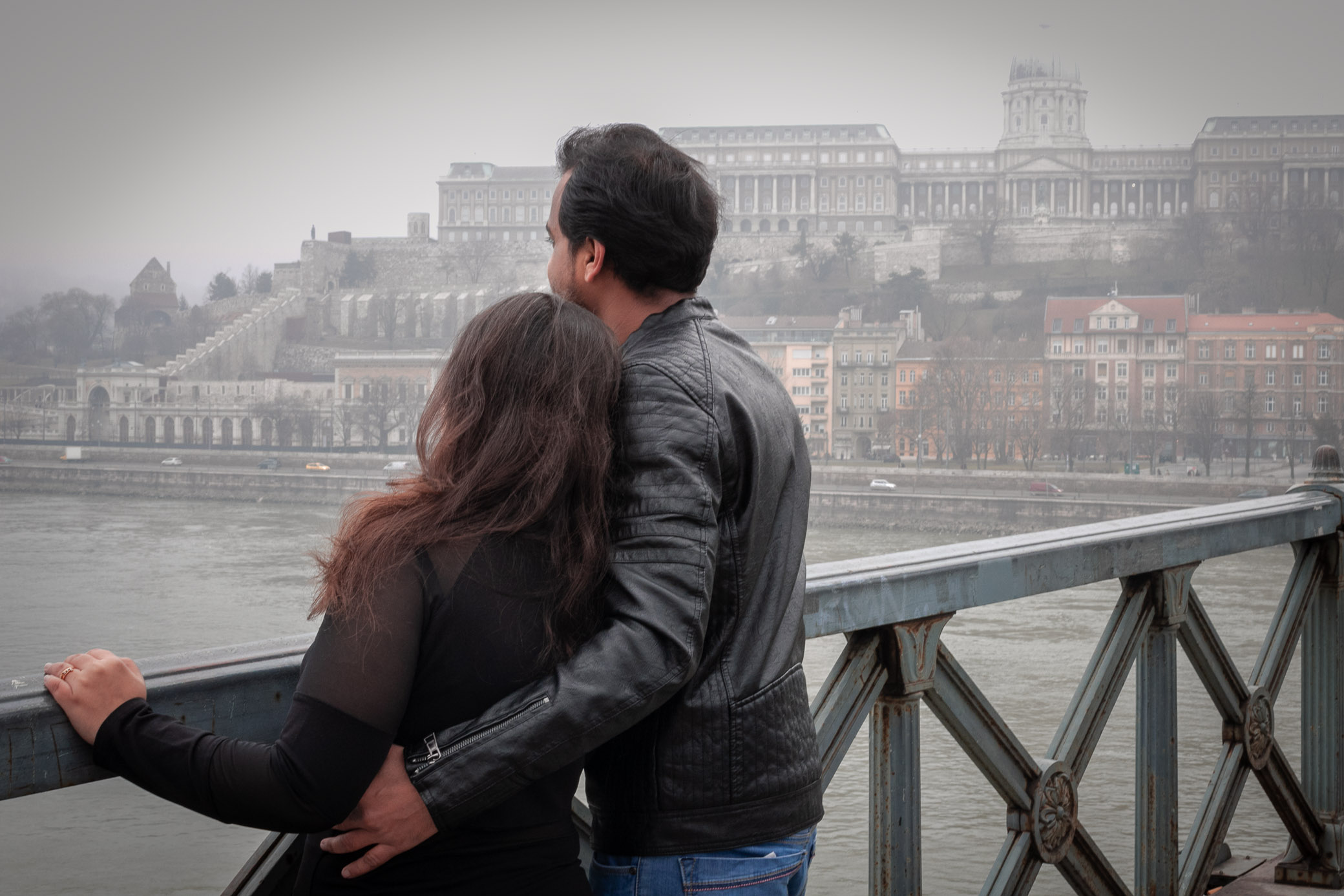 Image of a couple in budapest