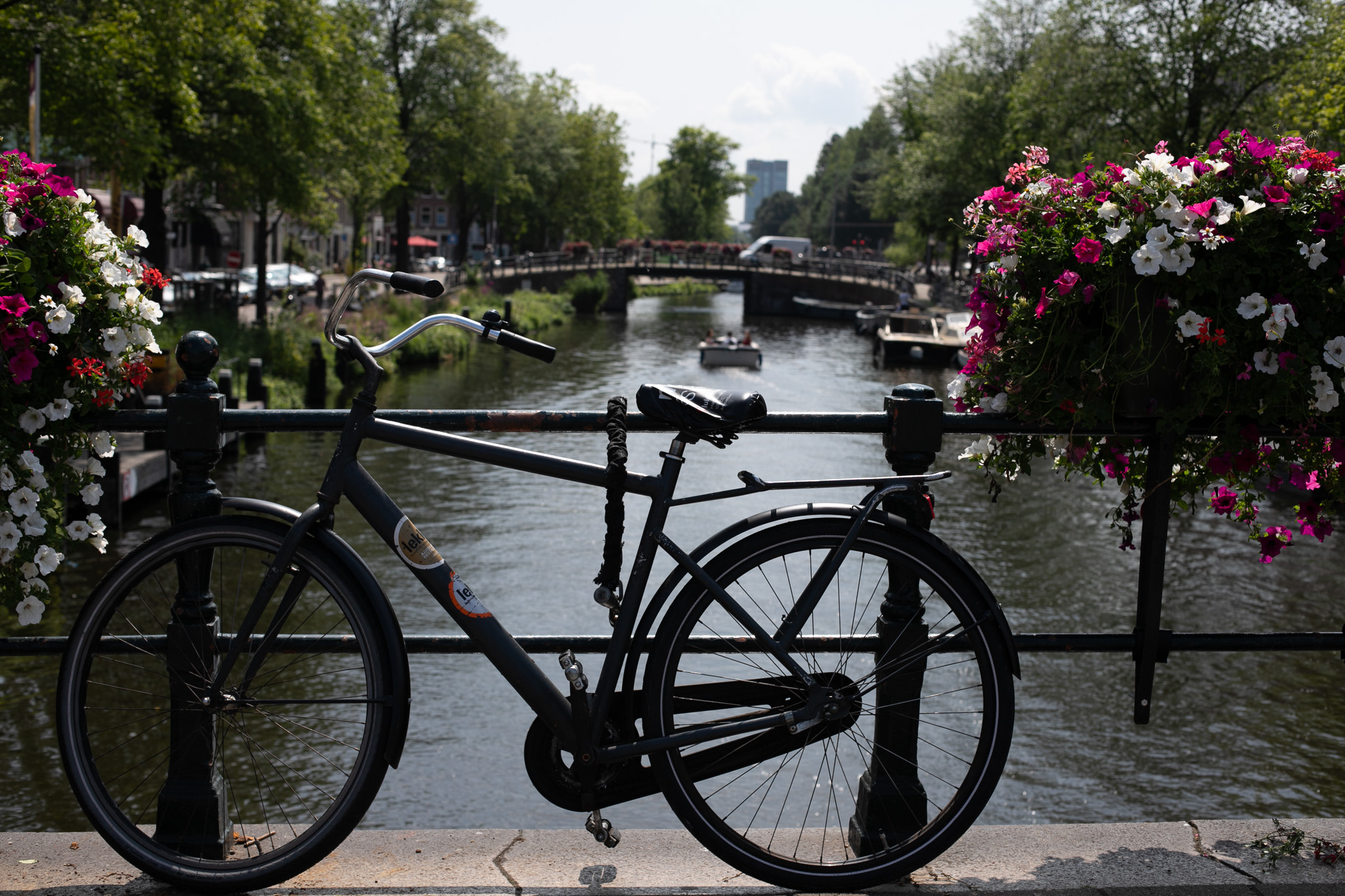 Black bicycle amsterdam
