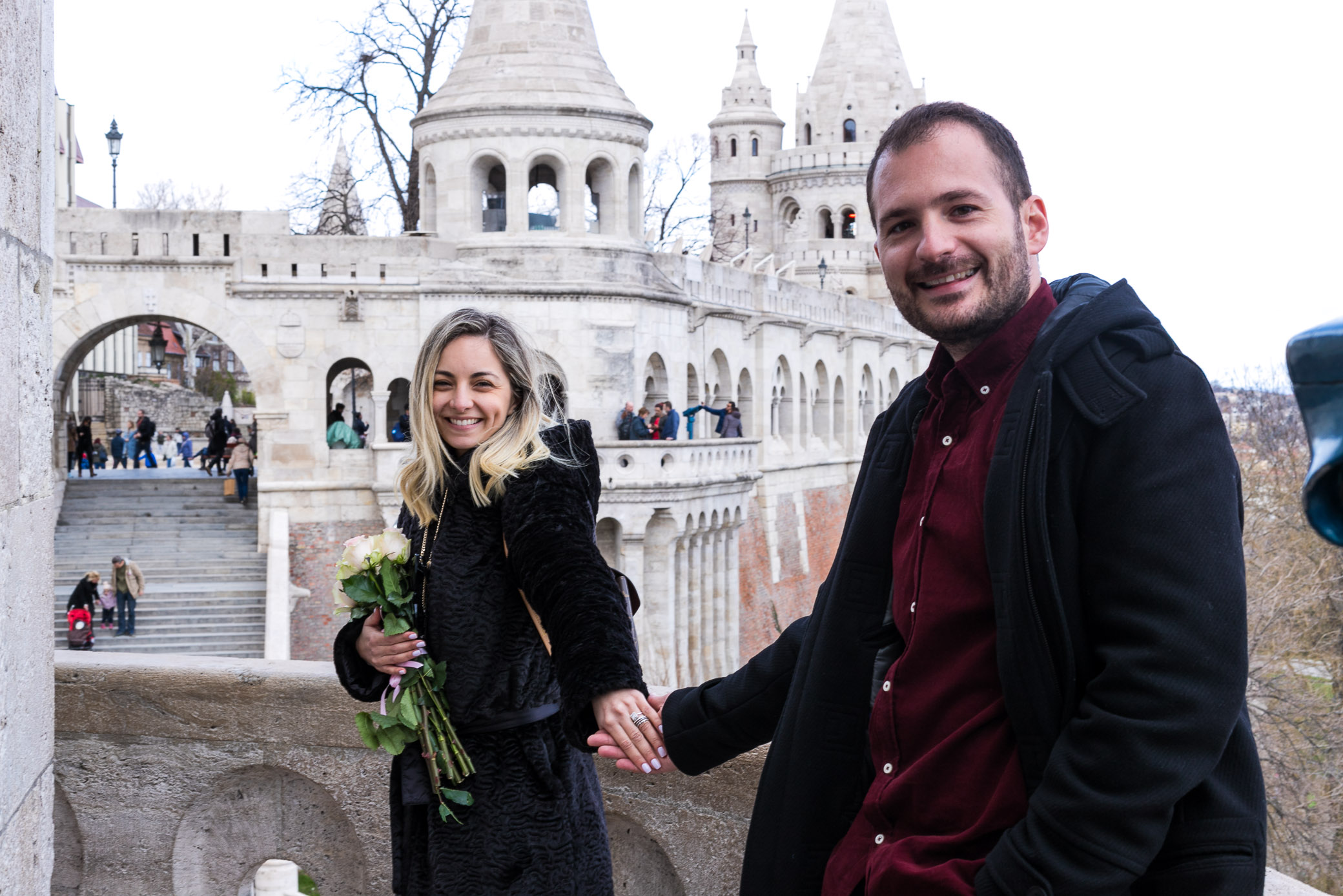 Surprise proposal Buda Castle