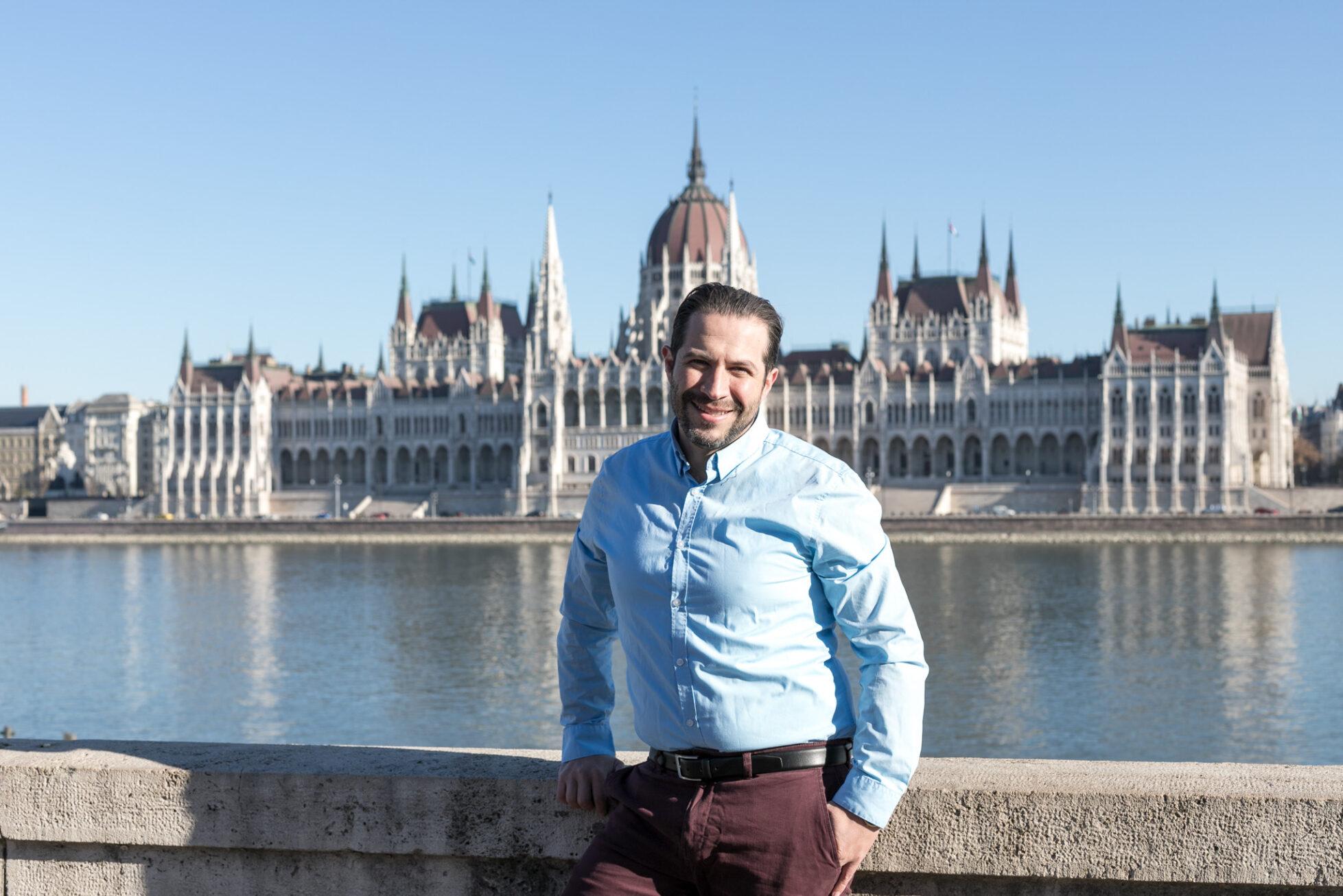 parliament building portrait budapest